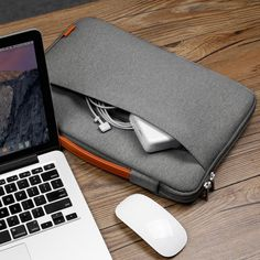 """AmazonSmile: Inateck 13-13.3 Inch Macbook Air/ Macbook Pro / Pro Retina Sleeve Case Cover Protective Bag Ultrabook Netbook Carrying Protector Handbag for 13"""" Macbook Air, MacBook Pro (Retina), Dark Gray: Computers & Accessories"""