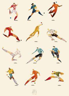 Rafael Mayanis World Cup Players-illustrations illustration Rafael Mayani's World Cup Players Illustrations Poster Art And Illustration, Character Illustration, Illustrations Posters, Football Design, Football Art, Grid Design, Web Design, Graphic Design, Soccer Art