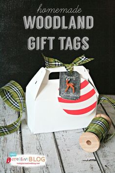 DIY Woodland Gift Tags   Create custom made holiday gift tags that become tree ornaments for the next year! See more inspiring ideas on http://TodaysCreativeLife.com