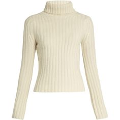 Ryan Roche Cashmere roll-neck sweater (7.185.060 IDR) ❤ liked on Polyvore featuring tops, sweaters, ivory, cashmere sweater, pure cashmere sweaters, ivory top, cashmere top and wool cashmere sweater
