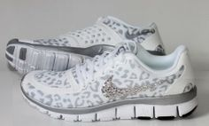 NIKE run free 5.0 v4 shoes w/Swarovski Crystals Cheetah