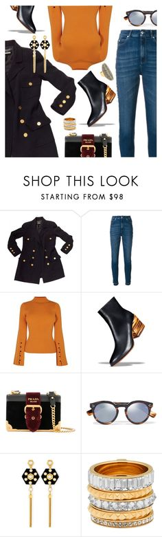 """""""Outfit of the Day"""" by dressedbyrose ❤ liked on Polyvore featuring Chanel, Alexander McQueen, Karen Millen, Gabriela Hearst, Prada, Illesteva, Henri Bendel, ootd and polyvoreeditorial"""