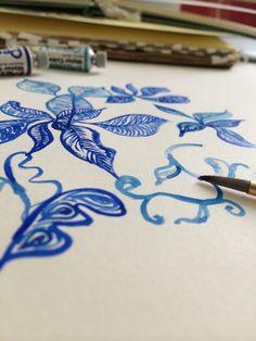#illustration #workinprogress #bluebotanica