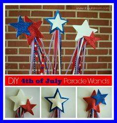 10 Fourth of July Crafts for Kids - Housewife Eclectic 4th July Crafts, Fourth Of July Crafts For Kids, Crafts For Teens To Make, Patriotic Crafts, Diy And Crafts, Arts And Crafts, Patriotic Decorations, Birthday Decorations, Summer Camp Crafts