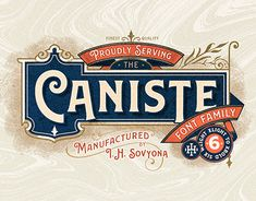 """Check out new work on my @Behance portfolio: """"Caniste Font Family"""" http://be.net/gallery/61663461/Caniste-Font-Family"""