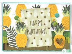 """Brighten someone's day with this summer """"Happy Birthday!"""" card by @reneezwirek using the #JHEveryday collection by @pebblesinc  and @tatertotsjello #sponsored"""