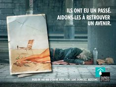 """Campagne Fondation Abbé Pierre """"Ils ont eu un passé, aidons-les à retrouver un venir""""."""