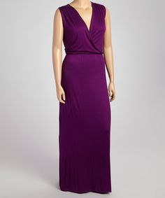 Another great find on #zulily! Purple Surplice Maxi Dress - Plus by GLAM #zulilyfinds