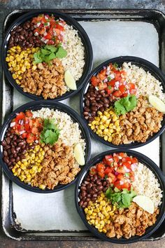 Chicken Burrito Bowl Meal Prep Chicken Burrito Bowl Meal Prep & Think of this as healthier (and cheaper!) Chipotle bowls that you can have all week long. Save time and calories here! The post Chicken Burrito Bowl Meal Prep & Lunch Lunch Recipes, Healthy Dinner Recipes, Healthy Snacks, Healthy Eating, Keto Recipes, Meal Prep Recipes, Damn Delicious Recipes, Chipotle Copycat Recipes, Healthy Mexican Recipes