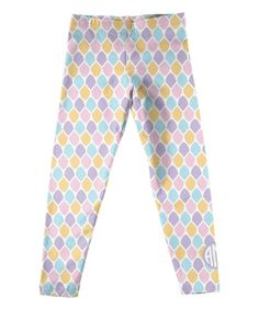 Purple & Pink Monogram Quatrefoil Leggings - Infant Toddler & Girls