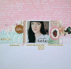 #papercraft #scrapbook #layout. Dream big sweet girl by Sockergrynet at @studio_calico