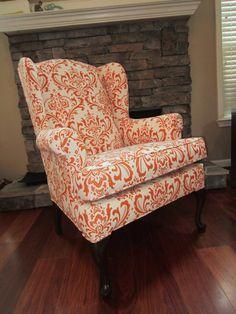 Accent Chair Orange Pekoe by Urbanmotifs on Etsy, $495.00