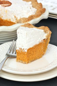 """Pumpkin Cream Pie - a scratch baked pumpkin cream pie that really is as """"easy as pie"""" and would be the perfect ending to your Thanksgiving feast!"""