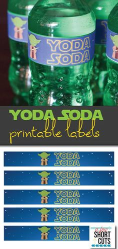 These are the best for any Star Wars party or May the Fourth! Go now to download and print these great Yoda Soda Printable Labels!