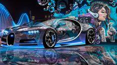Bugatti-Chiron-3D-Super-Crystal-City-Graffiti-Girl-Dogs-Street-Art-Car-2016-Blue-Violet-Black-Colors-4K-Wallpapers-design-by-Tony-Kokhan-www.el-tony.com-image