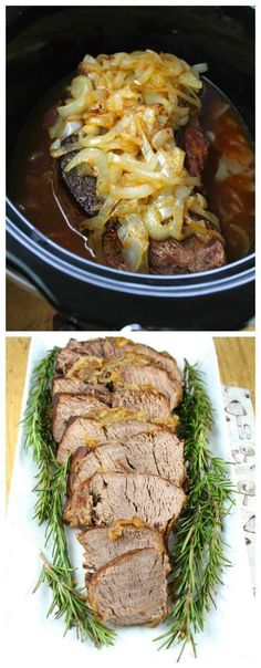 Crock Pot Beef Roast with Caramelized Onions from Miss in the Kitchen; this amazing sounding pot roast has no processed ingredients but plenty of flavor. (For low-carb, I would cook down the liquid to make a sauce and skip the gravy thickened with cornstarch.) [Featured on SlowCookerFromScratch.com]