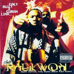 """Released in Only Built 4 Cuban Linx. is the solo debut album of American rapper and Wu-Tang Clan member Raekwon and contained the hit songs """"Criinology"""", """"Ice Cream"""", and Incarcerated Scarfaces"""". Rap Albums, Best Albums, Greatest Albums, Music Albums, I Love Music, Good Music, Classic Hip Hop Albums, New School Hip Hop, Rap Album Covers"""