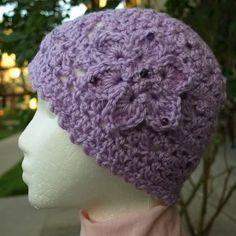 Orchid Crochet Lacy Hat