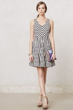 Loving the flowy skirts!  Striped Day Dress | Anthropologie