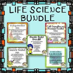 Everything you need for 20+ weeks of Life Science instruction: Cells, Human Body, Ecology, Evolution, and Genetics $  #gettingnerdy