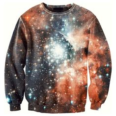 #Galaxy Sweater II Unisex #orange, #navy, women's apparel #space