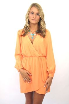 The Wrap dress Coral. use code 'fashion5' for 5% off!