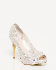 Peep toe wedding shoes!