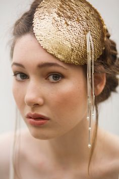 Maggie Mowbray Sequin Hat. Read More - http://onefabday.com/stuff-love-maggie-mowbray-millinery/