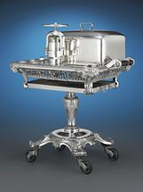 Meat Carving Trolley with Duck Press