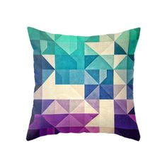 Don't you love the unfolding angles of this bold graphic pillow? With a range of fashionable color options, you're sure to find one to light up your favorite chair. Choose either pillow with insert or ...  Find the Kaleidoscope Pillow in Cool, as seen in the Space Odyssey Collection at http://dotandbo.com/collections/space-odyssey?utm_source=pinterest&utm_medium=organic&db_sku=MBW0022