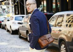 The Leather Bowery Camera Bag and Insert