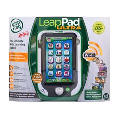 """LeapFrog LeapPad Ultra/Ultra XDI Kids' Learning Tablet, Green (styles may vary)(Discontinued by manufacturer). Ultimate adventures await with LeapPad Ultra XDi's huge 7"""" hi-res screen, kid-safe web and kid-tough design. Huge, vivid screen delivers rich, dynamic graphics that immerse kids into the learning experience and bring the fun to life!. Access the most engaging learning library for kids tablets, with 1,000+ educator-approved games, apps, eBooks, videos, music and more. Includes 11..."""