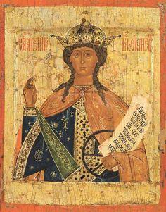 Русская икона святой великомученицы Екатерины Александрийской