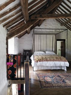 Loft bedroom with rustic flavor
