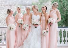Azazie pearl pink bridesmaid dresses at Charleston's Governors House Inn Blush Colored Bridesmaid Dresses, Azazie Bridesmaid Dresses, Our Wedding, Dream Wedding, Wedding Ideas, Wedding Bridesmaids, Wedding Dresses, Happily Ever After, Wedding Planning