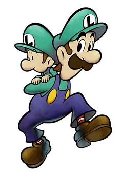 Luigi & Baby Luigi - Mario & Luigi: Partners in Time