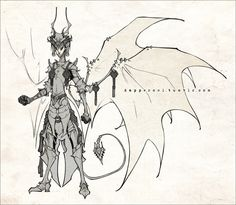 Asmodeus - Re-design - by dapper-owl.deviantart.com on @deviantART