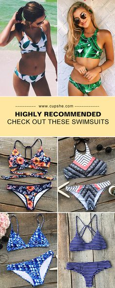 Any bathing suits your friends recommend for swimming? Cupshe gives you the best-quality bikini set. Join in the cool water sports now! More heated bikinis saved for you at Cupshe.com !
