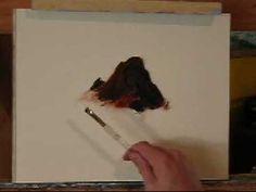 how to paint rocks in oil - Bing Videos Watercolor Tutorials, Acrylic Painting Tutorials, Painting Videos, Painting Lessons, Art Tutorials, Art Lessons, Painting & Drawing, Watercolor Paintings, River Rocks