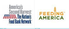 Feeding America Logo, Before and After