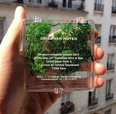 Official Invite to the Dries Van Noten show for their Spring/Summer 2015 show.