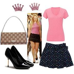 Regina George outfit inspired mean girls Nerd Fashion, 2000s Fashion, Fashion Line, Fashion Outfits, Fandom Fashion, Style Fashion, Mean Girls Outfits, Mean Girls Movie, Cool Outfits