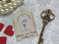 Disney inspired Personalized Tags. Disney Wedding Theme. Disney Wedding Favor Tags. Beauty and Beast inspired. Set of 25 to 300 pieces