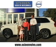 The Bongiovanni family with their 2016 Volvo XC90 and sales associate Keith Williams. Thank you for your business Marco Kate and Isabella! #HappyCustomers