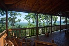 ***Haven Atop Rainbow mtn. Gorgeous view from the deck overlooking the mountain tops  book at Blue Sky Cabin Rentals