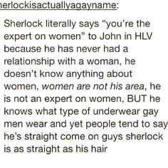 Not johnlock but still gay related :P
