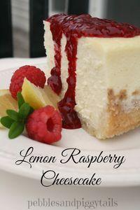 Pebbles & Piggytails: Raspberry Lemon Cheesecake Recipe Tutorial