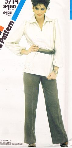 1980s Vintage Womens Sewing Pattern Simplicity by Sutlerssundries, $4.99