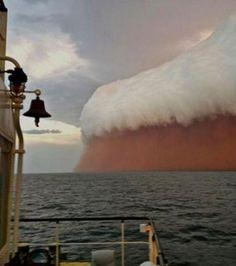 Une tempête de sable au large de l'Australie en 2013.