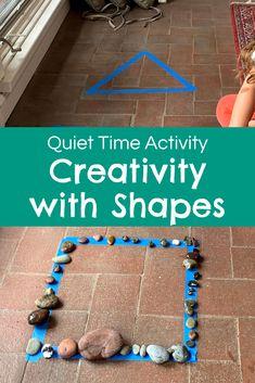 Preschool Shape Activities, Preschool Colors, Preschool Curriculum, Class Activities, Preschool Activities, Teaching Shapes, Shape Names, Relaxing Art, Creative Curriculum
